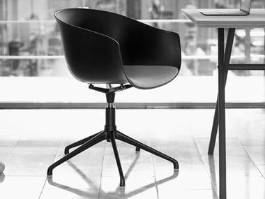 Swivel chair with 5-spoke base BAI | Chair with 5-spoke base