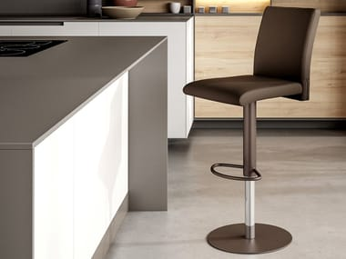 Eco-leather stool with gas lift BALI