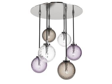 Blown glass ceiling lamp BALLOTON | Ceiling lamp