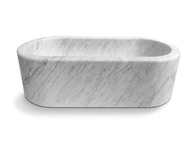 Baignoire ilôt en marbre BALNEA | Baignoire