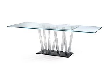 Tavolo da pranzo in vetro BAMBOO | Tavolo in vetro
