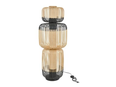 Bamboo floor lamp BAMBOO LIGHT TOTEM 3L | Floor lamp