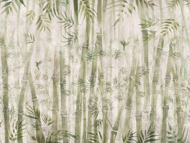 Ecological washable PVC free wallpaper BAMBOO
