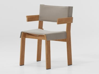Teak chair with armrests BAND | Chair