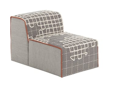 Upholstered modular fabric easy chair BANDAS A | Easy chair