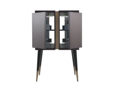 Wooden bar cabinet with integrated lighting SEAN | Bar cabinet