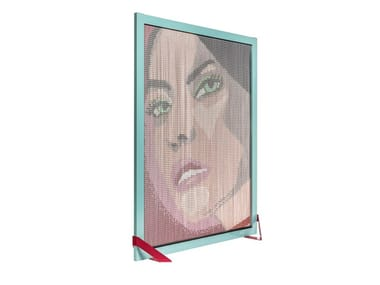 Aluminium room divider BARCELONA SCREEN DIVIDER GIRL FACE