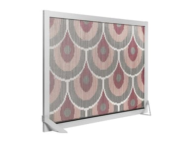 Aluminium room divider BARCELONA SCREEN DIVIDER PINK PATTERN