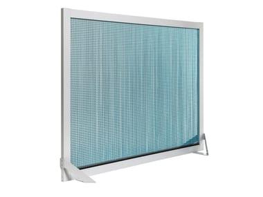 Aluminium room divider BARCELONA SCREEN DIVIDER TURQUOISE