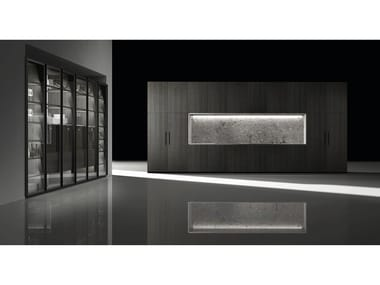 Contemporary style fitted kitchen BARNA TINT OLMO