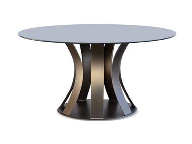 Tavolo da pranzo rotondo in vetro BARRIQUE | Tavolo