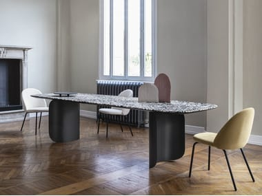 Rectangular marble table BARRY | Marble table