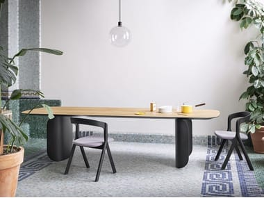 Rectangular wooden table BARRY   Wooden table