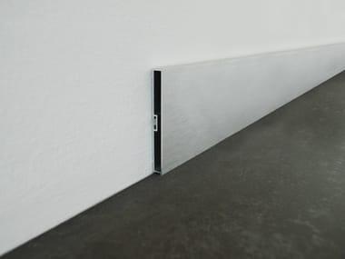 Battiscopa ad incastro in alluminio anodizzato spazzolato BAS | Battiscopa