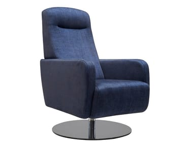 Swivel fabric armchair BAS | Swivel armchair