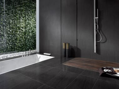 Indoor/outdoor wall/floor tiles with stone effect BASALTINA STONE PROJECT LAPPATA