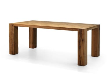 Rectangular solid wood table BASE   Table