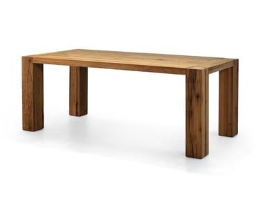 Tavolo rettangolare in legno massello BASE | Tavolo