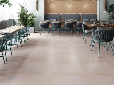 Antibacterial flooring with concrete effect BASIC CONCRETE SANIT