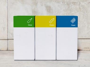 Portarifiuti in calcestruzzo per raccolta differenziata BLOCK | Portarifiuti per raccolta differenziata