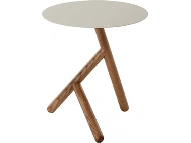 Round wooden coffee table BASILE | Coffee table