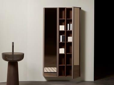 Mobile bagno sospeso in legno e vetro con ante BEMADE | Mobile bagno