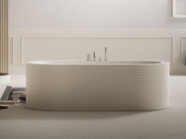 Vasca da bagno idromassaggio ovale in acrilico ONEWEEK | Vasca da bagno