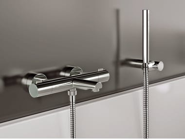 Single handle thermostatic bathtub mixer with hand shower X-FACTOR | Bathtub mixer