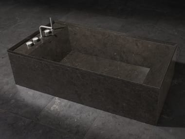 Freestanding rectangular marble bathtub ONSEN | Bathtub