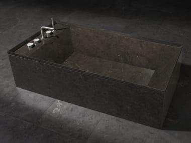 Baignoire ilôt rectangulaire en marbre ONSEN | Baignoire