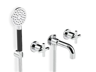 Recessed bathtub set with individual rosettes SIMPLE | Bathtub set