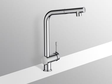 Countertop kitchen mixer tap with pull out spray CERALOOK - BC176