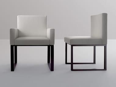 Sled base upholstered chair BD03