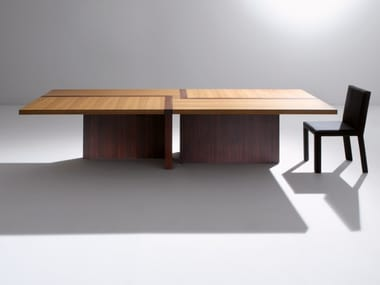 Rectangular wooden table BD07 R