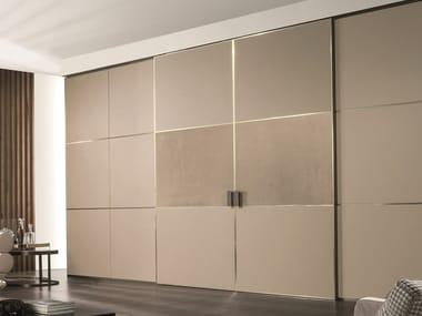 Leather sliding door BE MINE | Leather door