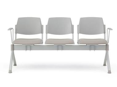 Seduta su barra a pavimento con braccioli VOLÉE EASY SOFT | Seduta su barra