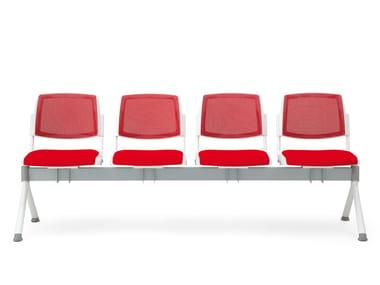 Freestanding fabric beam seating VOLÉE NET SOFT | Beam seating