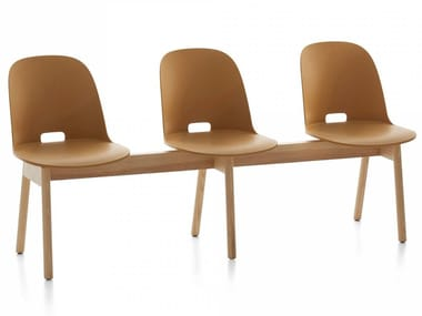 Wooden beam seating ALFI | Beam seating