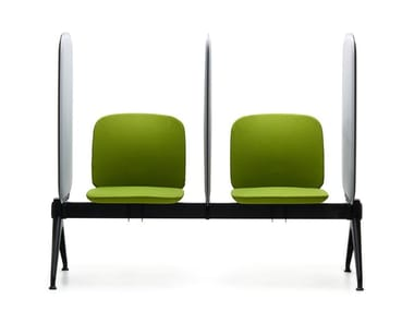 Seat on beam with backrest and sound-absorbing panels VIVA BENCH   Beam seating