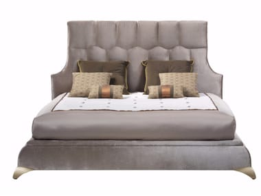 Fabric bed double bed with high headboard GASPARE | Bed