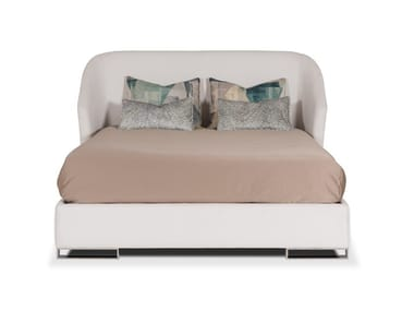 Velvet double bed with upholstered headboard FORTUNE   Bed