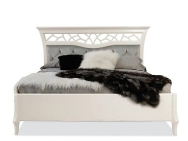Lacquered double bed with tufted headboard MONTECARLO | Bed