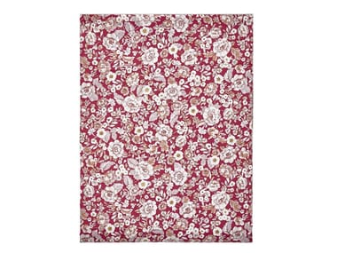 Printed cotton bed sheet with floral pattern LUTECE | Bed sheet