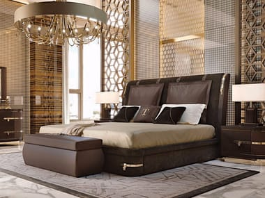 Upholstered double bed DIAMOND | Bed