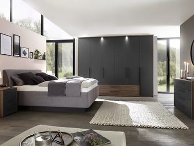 Anpassbares Schlafzimmer aus furniertem Holz L1000 | Schlafzimmer-Set