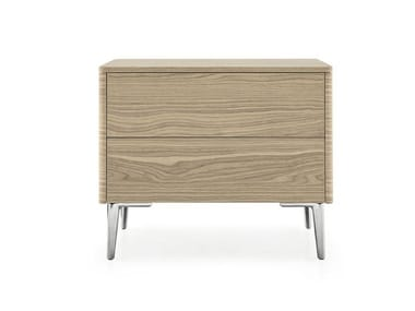 Rectangular bedside table with drawers BOSTON | Bedside table