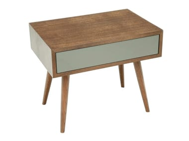 Lacquered wood veneer bedside table MIRO | Bedside table