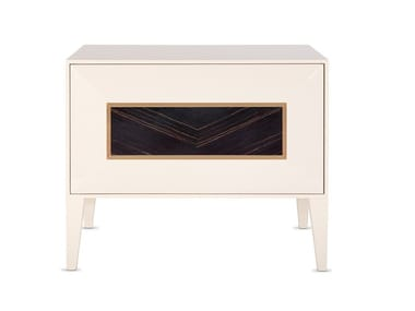 Lacquered rectangular wooden bedside table HERITAGE | Bedside table