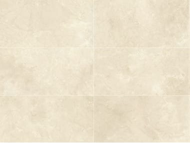 Indoor/outdoor porcelain stoneware wall/floor tiles with marble effect BEIGE EXPERIENCE Crema Imperiale