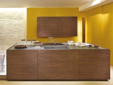 Fitted kitchen without handles BELLAGIO